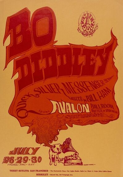 Stanley Mouse, 'Bo Diddley: a U.S. concert poster', 1966
