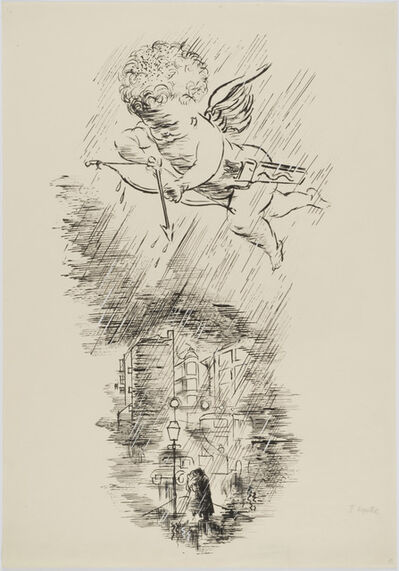 George Grosz, 'Lykkelige Mennesker (Happy Man)', 1934