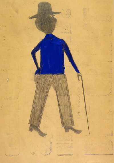Bill Traylor, 'Man in Blue Shirt', ca. 1939