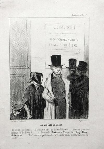 Honoré Daumier, 'Une Annonce de Concert', 1843