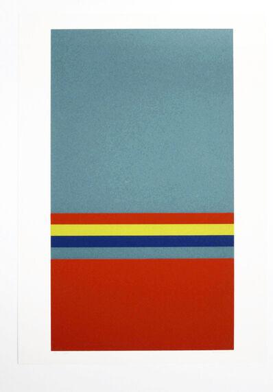 Camille Graeser, 'Relation mit grünem Quadrat', 1971