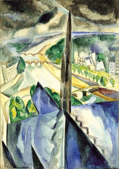 Robert Delaunay, 'La flèche de Notre Dame de Paris', 1909