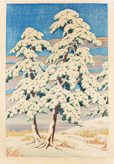 Kawase Hasui, 'Pine Trees After Snow', 1929
