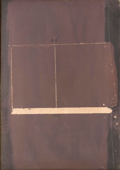 Antoni Tàpies, 'Pintura damunt cartró rascat', 1959