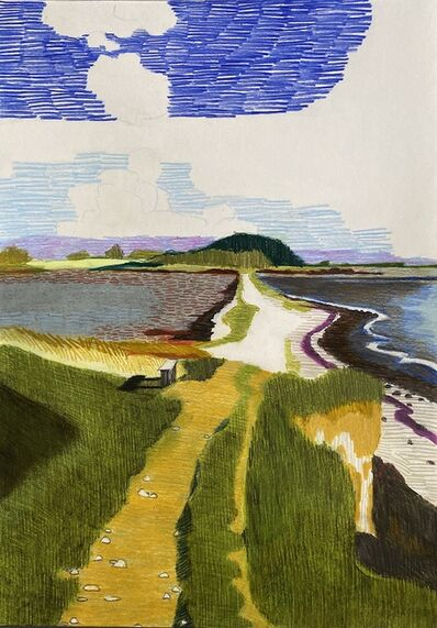 Per Adolfsen, 'Bench by the Sea', 2020