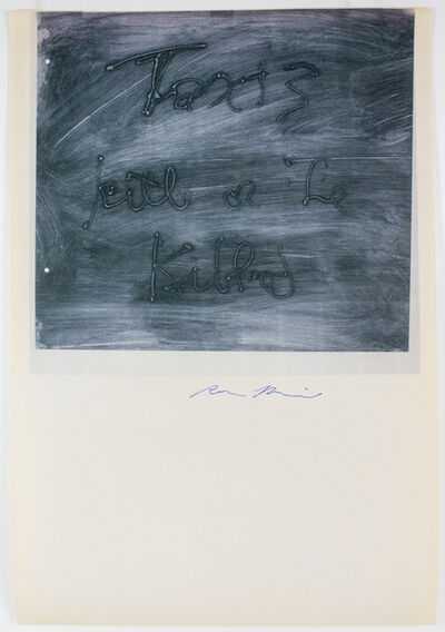 Rene Ricard, 'Taxis', 1990