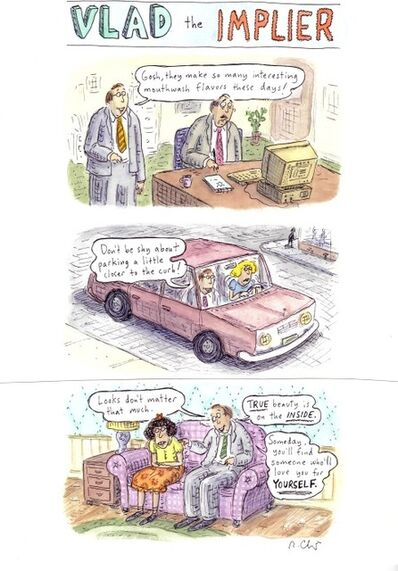 Roz Chast, 'Vlad the Implier', 2008