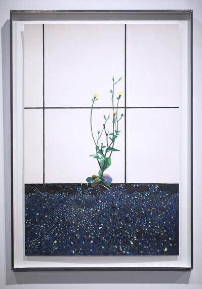 Camille Brès, 'Touffe d'herbes devant carrelage', 2020