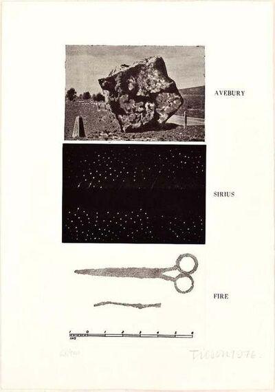 Joe Tilson, 'Avebury, Sirius, Fire', 1976