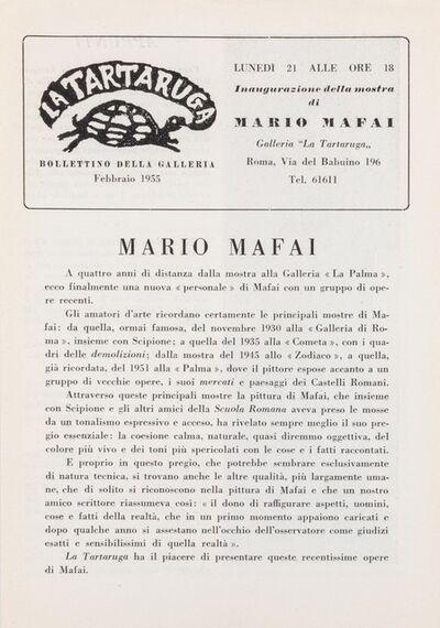 Mario Mafai, 'Bollettino'