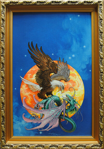 Stephen Hickman, 'Eagle and Dragon'