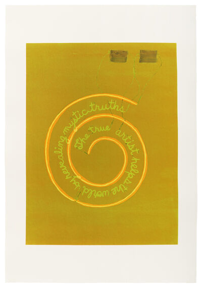 Leidy Churchman, 'Mystic Truth by Bruce Nauman (Green)', 2019