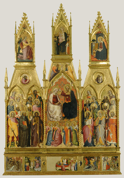 Cenni di Francesco di Ser Cenni, 'Polyptych with Coronation of the Virgin and Saints', 1390