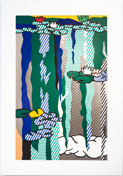 Roy Lichtenstein, 'Water Lilies with Cloud', 1992