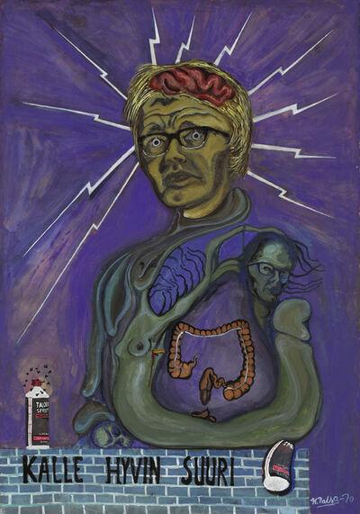 Kalervo Palsa, 'Self-Portrait from the Series Golgotha Whisky', 1970