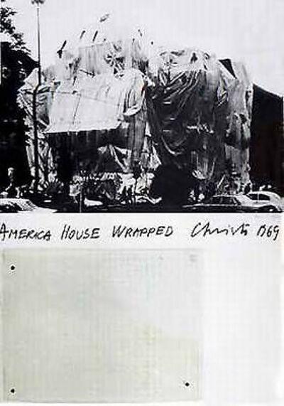 Javacheff Christo, 'America House, Heidelberg', 1969