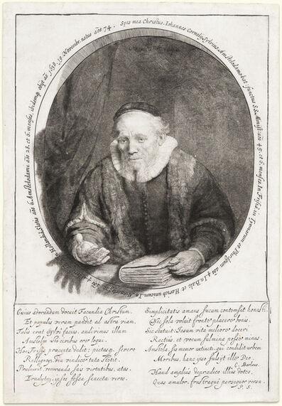 Rembrandt van Rijn, 'Jan Cornelis Sylvius, Preacher', 1646