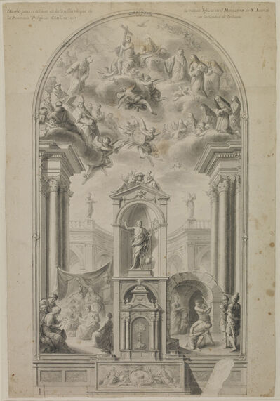 Antonio Villanueva, 'Study for an altar wall with scenes from life of St John the Baptist', 1780