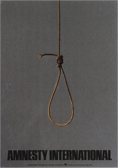 "Michelangelo Pistoletto, '""Cappio"", Amnesty International, prisoners of conscience ', 1977"