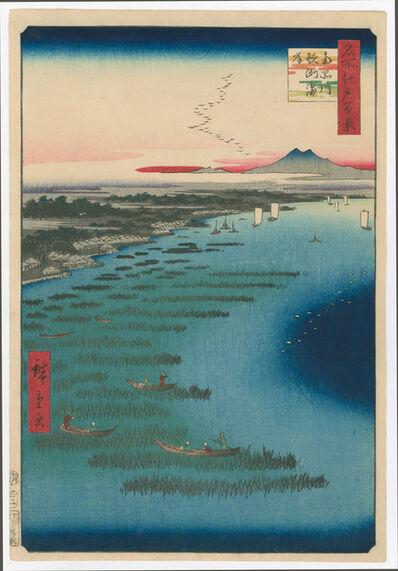 Utagawa Hiroshige (Andō Hiroshige), ' #109 Minami, Shinagawa Samezu Coast', 1857