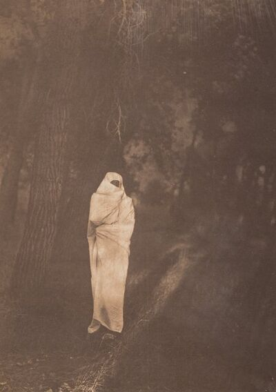 Edward Sheriff Curtis, 'Waiting in the Forest-Cheyenne', 1910