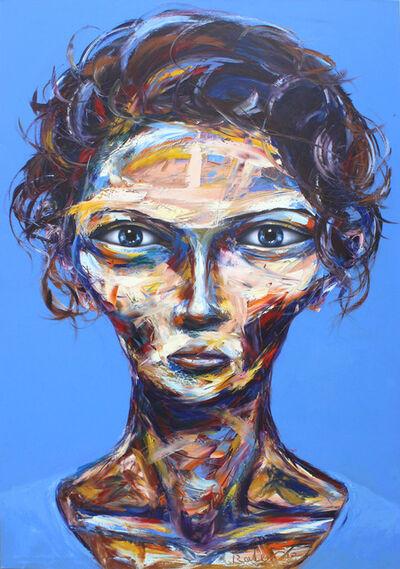 Bader Mahasneh, 'Blue Hair Lady', 2017
