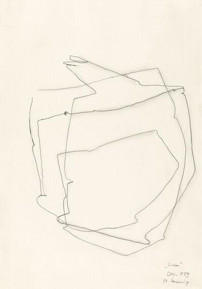 Maria Lassnig, 'Linien', 1989