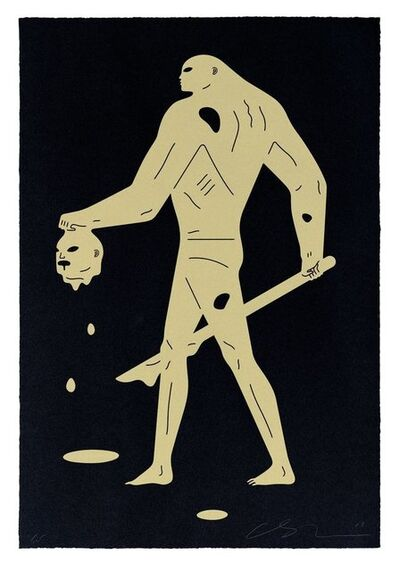 Cleon Peterson, 'Headless Man (Black & Gold) ', 2019