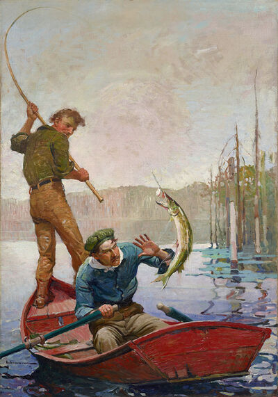 Frank Schoonover, 'Pickerel', 1917
