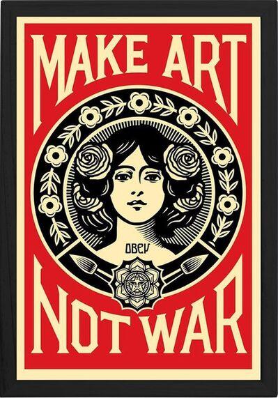 """Shepard Fairey, '""""Make Art Not War"""", Framed Offset Poster, 2018', 2018"""