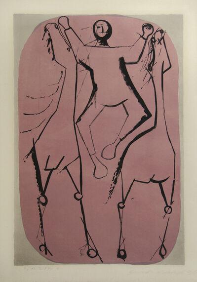 Marino Marini, 'Chevaux et Jongleur (Horses and Jugglers)', 1951