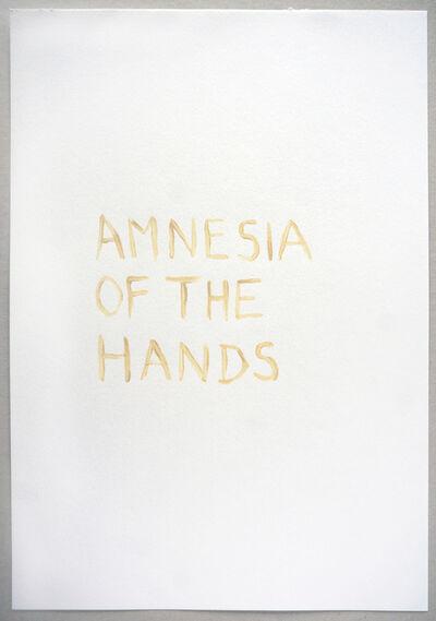 Tim Etchells, 'Amnesia', 2015