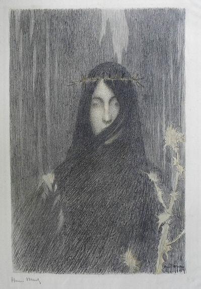 Henri Martin, 'Tête de femme couronnée d'épines', 1897