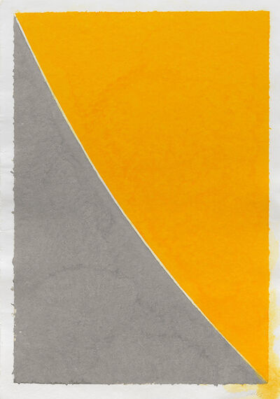 Ellsworth Kelly, 'Colored Paper Image VII (Yellow Curve with Gray)', 1976