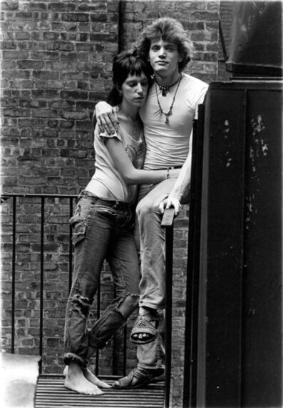 Gerard Malanga, 'Patti Smith & Robert Mapplethorpe in a moment of reverie', 1971
