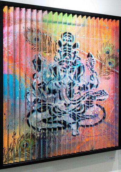 RISK, 'Lenticular Buddha and Ganesh ', 2020