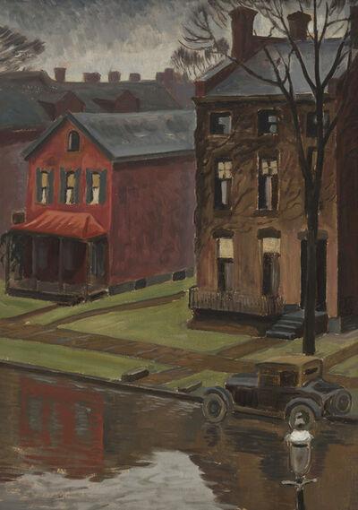 Charles Ephraim Burchfield, 'Rainy Street Scene', 1933
