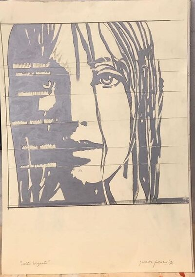 Giosetta Fioroni, 'Volto Bagnato', 1970