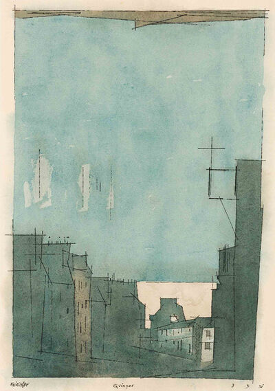 Lyonel Feininger, 'Quimper', 1931