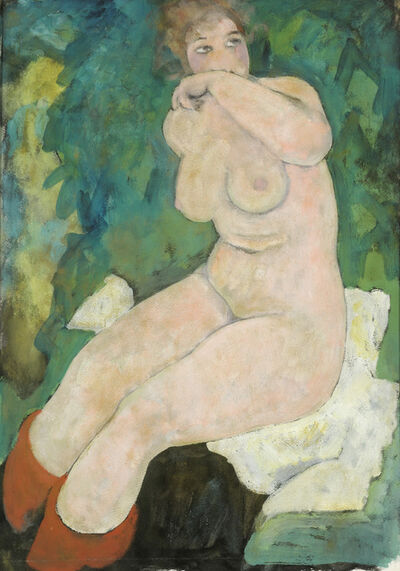 Alfons Walde, 'Seated Woman', 1919