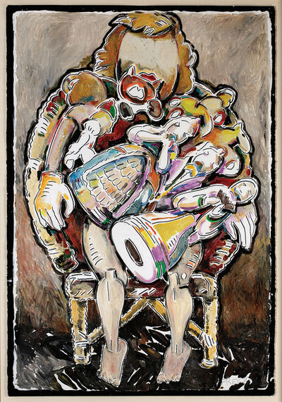 Viola Frey, 'Lap Full of Figurines (self portrait)', 1981