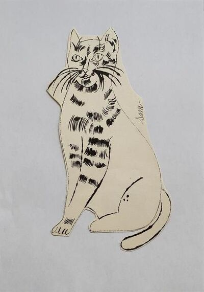 Andy Warhol, '25 Cats Name[d] Sam and One Blue Pussy IV.55', ca. 1954