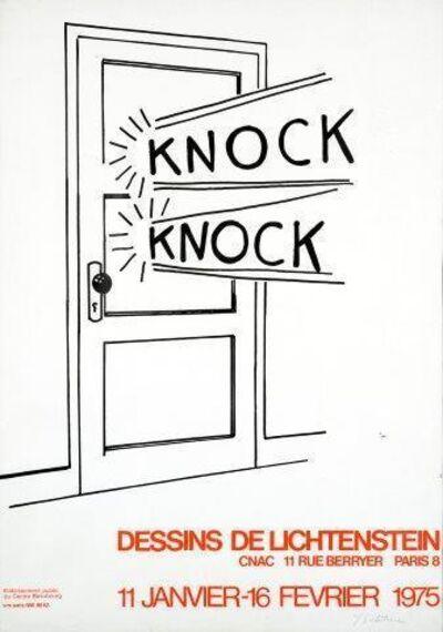Roy Lichtenstein, 'Knock Knock'