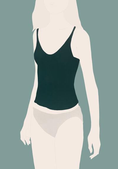 Natasha Law, 'Green Vest on Blue', 2018