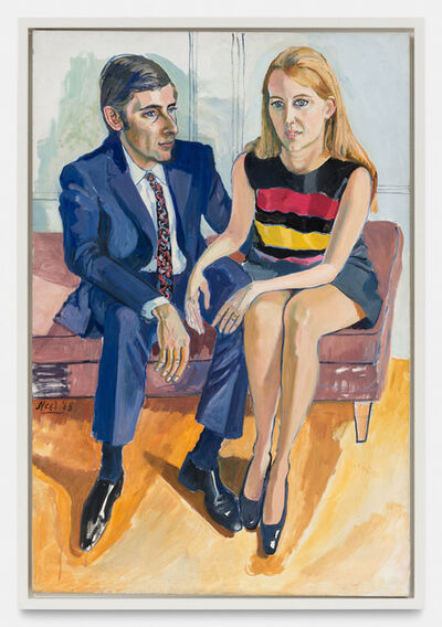 Alice Neel, 'David McKee and his first wife Jane', 1968