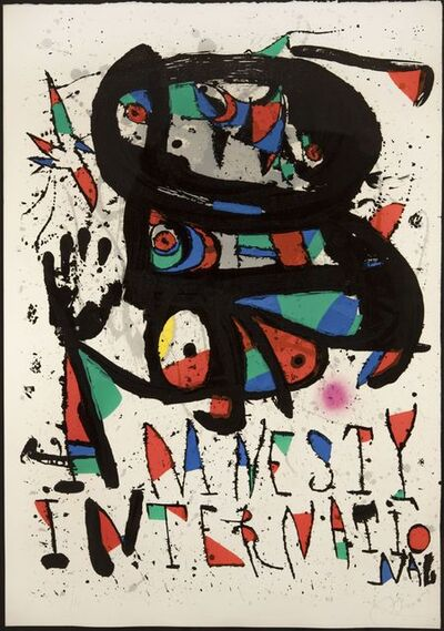 Joan Miró, 'Untitled (Amnesty International)', 1893-1983