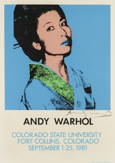 Andy Warhol, 'Kimiko Powers, A poster for the Colorado State University Exhibition', 1981