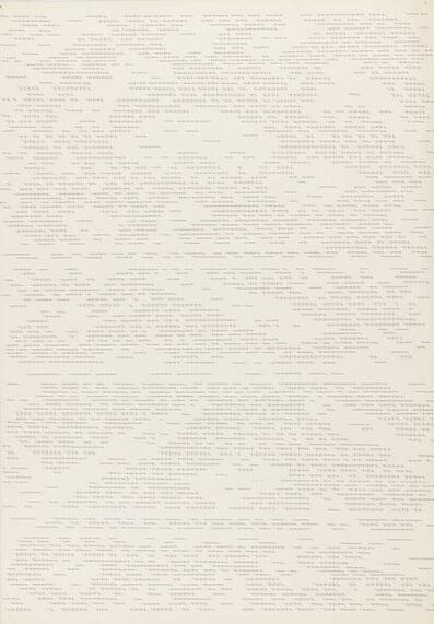 Dadamaino, 'Lettera 13 - Andrò alla Biennale', 1980