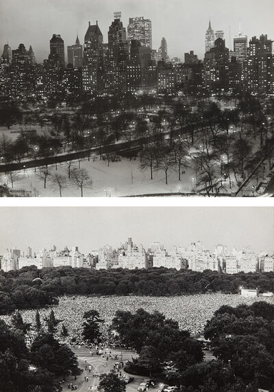 Ruth Orkin, 'View From My Window, Central Park South 1956 and Philharmonic Concert, Sheep Meadow, Central Park', 1975