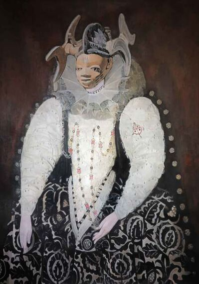 Wole Lagunju, 'Belle of the hearth', 2014